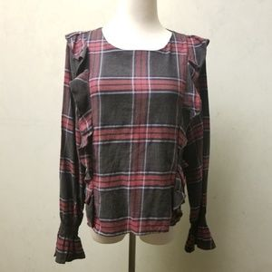 NWT Romeo & Juliet Couture checkered top (A20)